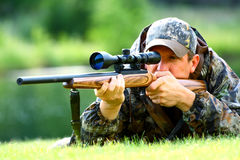 Aiming at the target Royalty Free Stock Images