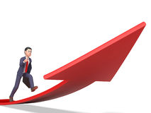 Aims Direction Means Business Person And Ahead 3d Rendering. Arrow Aims Indicating Business Person And Entrepreneur 3d Rendering Royalty Free Stock Photography
