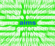 Aims Word Means Purpose Direction And Goals Stock Photos