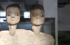 Ain статуи Ghazal самые старые статуи всегда делаемые человеком, сделанным между 6000 и 8000 b C , Музей Джордана археологический Стоковое Фото