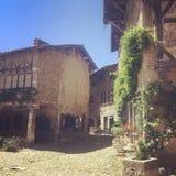 Ain Франции города деревни Perouges médiéval старое стоковое фото