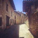 Ain Франции города деревни Perouges médiéval старое стоковое изображение