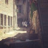 Ain Франции города деревни Perouges médiéval старое стоковая фотография rf