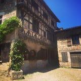 Ain Франции города деревни Perouges médiéval старое стоковое изображение rf