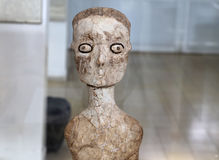 Ain Ghazal statues are the oldest statues ever made by a human being, made between 6000 and 8000 B.C.,Jordan Archaeological Museum Stock Photography