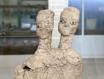 Ain Ghazal statues are the oldest statues ever made by a human being, made between 6000 and 8000 B.C.,Jordan Archaeological Museum Stock Images