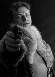 Ain't no nice guy. Man with a gun Stock Photos