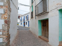 Ain village in Castellon whitewashed facades Spain Royalty Free Stock Photography