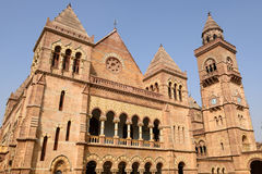 Aina Mahal palace in Bhuj, Gujarat, India. Eighteenth-century palace  Aina Mahal partly destroyed during an earthquake in the Bhuj town in Gujarat. India Royalty Free Stock Photos