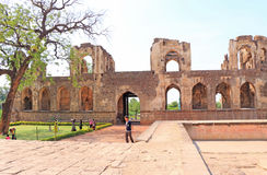Aincent arches buildings and ruins bijapur  Karnataka  india Royalty Free Stock Photo