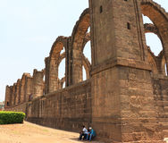 Aincent arches and ruins bijapur Karnataka india. Ancient ruins in and around bijapur [Agra of South India] built during The Adil Shahi Sultans dynasty Royalty Free Stock Image