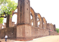 Aincent arches and ruins bijapur Karnataka india. Ancient ruins in and around bijapur [Agra of South India] built during The Adil Shahi Sultans dynasty Royalty Free Stock Photography