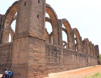 Aincent arches and ruins bijapur Karnataka india. Ancient ruins in and around bijapur [Agra of South India] built during The Adil Shahi Sultans dynasty Royalty Free Stock Photo
