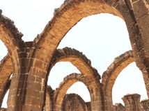 Aincent arches and ruins bijapur Karnataka india. Ancient ruins in and around bijapur [Agra of South India] built during The Adil Shahi Sultans dynasty Royalty Free Stock Photos