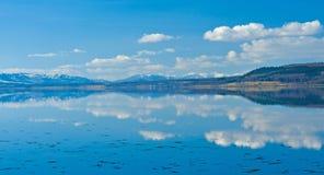 Ainda águas com reflexões fortes. Foto de Stock Royalty Free