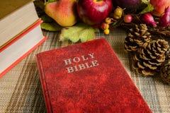 Ainda a Bíblia Sagrada do vermelho da vida Foto de Stock Royalty Free