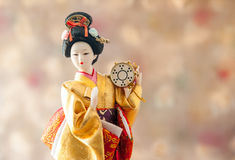 Ainda boneca japonesa bonito da gueixa da vida Fotos de Stock Royalty Free