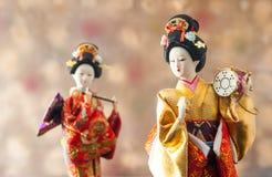 Ainda boneca japonesa bonito da gueixa da vida Fotografia de Stock Royalty Free