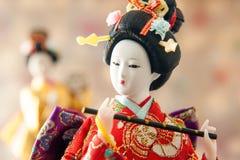 Ainda boneca japonesa bonito da gueixa da vida Fotografia de Stock