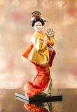Ainda boneca japonesa bonito da gueixa da vida Imagem de Stock