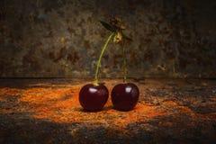 Ainda cena do sumário da cereja da vida Foto de Stock Royalty Free