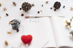 Ainda conceito da vida para o mocap do dia do ` s do Valentim do St Fotos de Stock