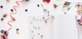 Ainda conceito da vida para o mocap do dia do ` s do Valentim do St Foto de Stock