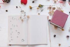 Ainda conceito da vida para o mocap do dia do ` s do Valentim do St Fotografia de Stock