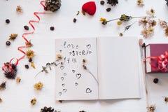 Ainda conceito da vida para o mocap do dia do ` s do Valentim do St Imagens de Stock Royalty Free
