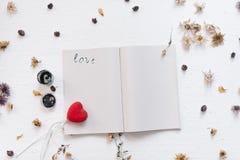 Ainda conceito da vida para o mocap do dia do ` s do Valentim do St Fotos de Stock Royalty Free