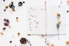 Ainda conceito da vida para o mocap do dia do ` s do Valentim do St Imagem de Stock Royalty Free
