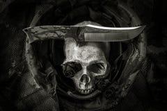 Ainda crânio do soldado da vida Foto de Stock Royalty Free