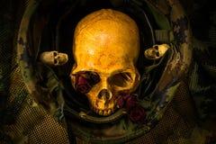Ainda crânio do soldado da vida Fotografia de Stock