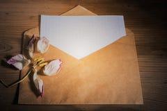 Ainda flor seca do envelope da vida Imagens de Stock