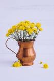 Ainda flores do amarelo do crisântemo da vida Fotografia de Stock