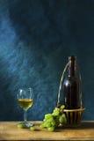 Ainda fotografia da vida com vinho branco velho Imagem de Stock