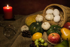 Ainda frutas e legumes da colheita da vida Fotografia de Stock Royalty Free