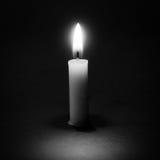 Ainda luz da vela da vida com conceito preto e branco abstrato Fotos de Stock Royalty Free