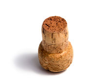 Ainda objeto da vida da cortiça do champanhe isolado Fotos de Stock Royalty Free