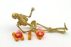 Ainda os preservativos do desgaste do osso do corpo humano do conceito da vida e A exprimem H Imagem de Stock Royalty Free