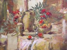 Ainda pintura feito a mão da vida Imagens de Stock Royalty Free