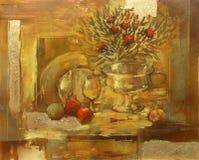 Ainda pintura feito a mão da vida Imagem de Stock Royalty Free