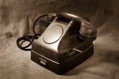 Ainda telefone do preto do vintage da vida Foto de Stock