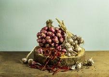 Ainda vegetais da vida no fundo de madeira da tabela Foto de Stock Royalty Free