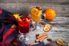 Ainda vida, alimento e conceito da bebida, o sazonal e dos feriados chris Fotografia de Stock Royalty Free