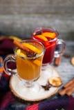 Ainda vida, alimento e conceito da bebida, o sazonal e dos feriados chris Imagem de Stock Royalty Free