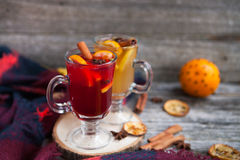 Ainda vida, alimento e conceito da bebida, o sazonal e dos feriados chris Fotografia de Stock