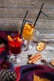 Ainda vida, alimento e conceito da bebida, o sazonal e dos feriados chris Foto de Stock Royalty Free
