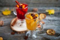 Ainda vida, alimento e conceito da bebida, o sazonal e dos feriados chris Imagem de Stock