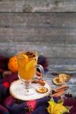 Ainda vida, alimento e conceito da bebida, o sazonal e dos feriados chris Fotos de Stock Royalty Free